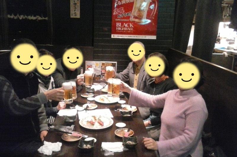 交流会後の飲み会~2018年3月10日