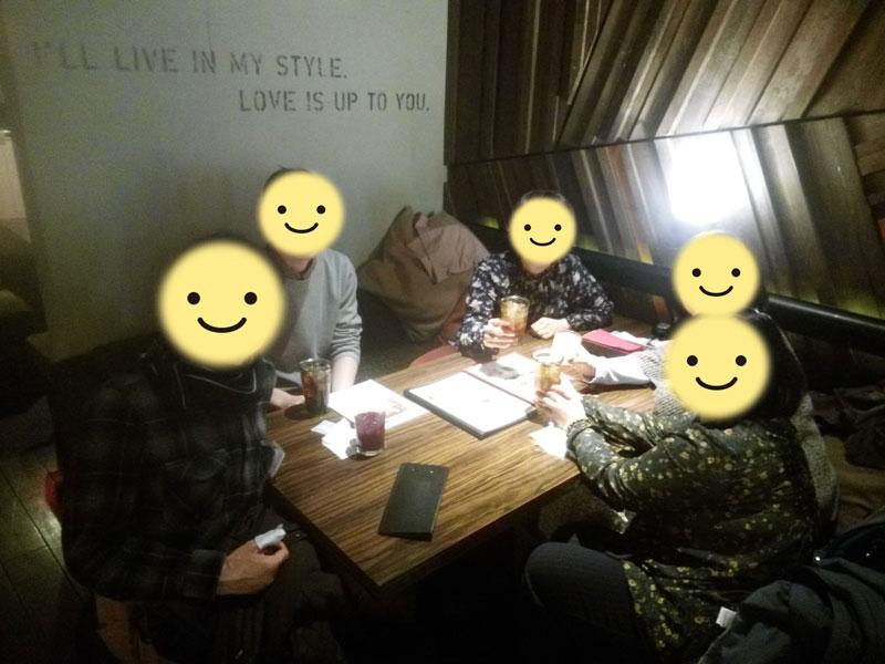 2345交流会後のオフ会~2018年3月21日