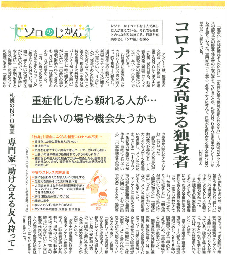 マスコミ紹介-2020年3月31日北海道新聞